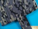 綿プリントワイドバイアス(両折れタイプ)迷彩・薄グレー×グレー(25mm幅 6m巻)