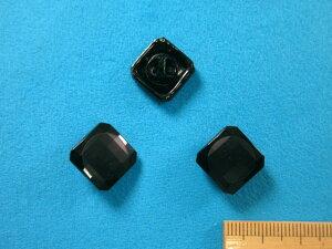 チェコガラスボタン(17mm)黒