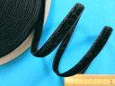 両面ベルベットリボン黒(0.6cm幅 10m巻)