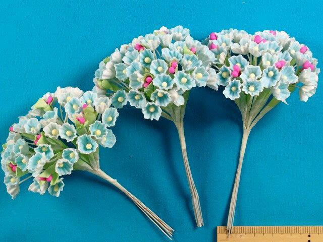 アートフラワー(造花)水色×白