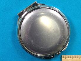 丸コンパクトミラー(アルミプレート付) 銀