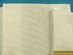 綿パイルドビー生地オフ白(145cm幅 1.5m)