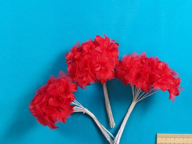 アートフラワー(造花)赤