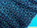オーガンジー刺繍レース生地黒(130cm幅 1.5m)