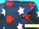 フリース生地星・紺×赤×白