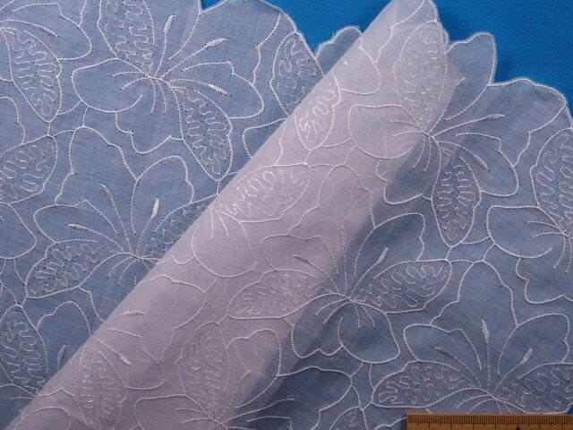 綿ローンレースハンカチ白