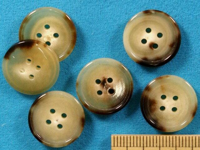 水牛ボタン(17mm) ベージュ系