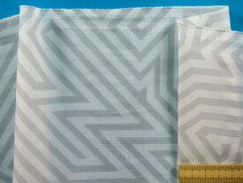 撥水加工生地オフ白×グレー(150cm幅 1.5m)
