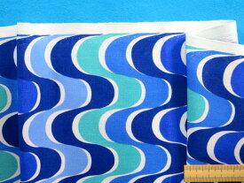 USAコットン生地紺×ブルー(110cm幅 2m)