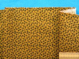 USAコットン生地金茶×黒(110cm幅 2m)