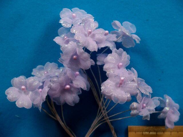 アートフラワー(造花)薄紫×ラメ