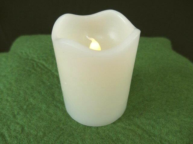 ロウでできたキャンドル型LEDライト(Sサイズ)ナチュラル