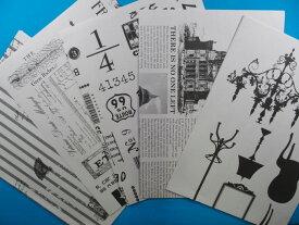 プリントペーパー・モノクロ10枚セット(5柄×2枚)