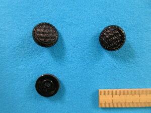 チェコガラスボタン(18mm)黒