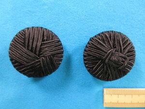 コードボタン(34mm)黒