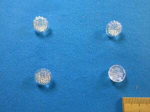 チェコガラスボタン(11mm)オーロラ×クリア