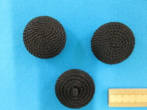 コードボタン(30mm)黒