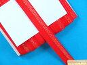 ストレッチふちどりテープ赤×オーロラ