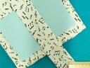綿プリントワイドバイアス(両折れタイプ)音符・オフ白×黒(25mm幅 6m巻)