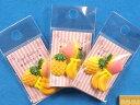 デコパーツ 3パックセットフルーツセットイエロー系×ピンク系