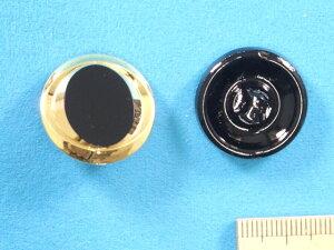 チェコガラスボタン(23mm)黒×金