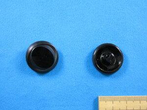 チェコガラスボタン(23mm)黒