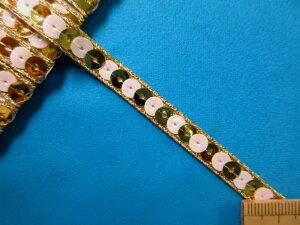 スパンコールテープ(0.7cm幅 5m巻)パール×金