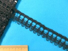 在庫処分・大幅値下げレーヨンケミカルレース(2cm幅 5m巻)黒