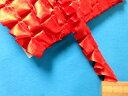 サテンボックスフリルテープ赤