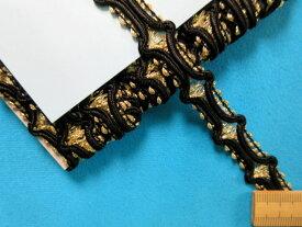 ラメブレード金×黒(1.5cm幅 5m巻)