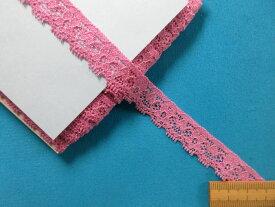 ストレッチレース濃ピンク(1.5cm幅 15m巻)