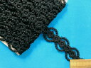 ケミカルレース黒(2.5cm×3m)
