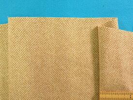 アンゴラ混ウールヘリンボン生地ベージュ×オフ白(150cm幅 1.5m)