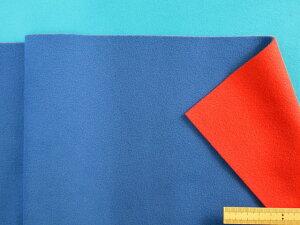 フリース生地(リバーシブル)ブルー/赤(170cm幅 1.5m)