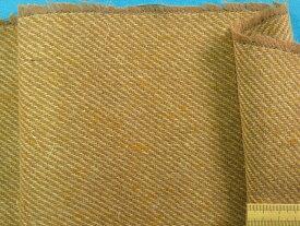 ウール混ツイード生地薄茶×ベージュ(150cm幅 1.5m)