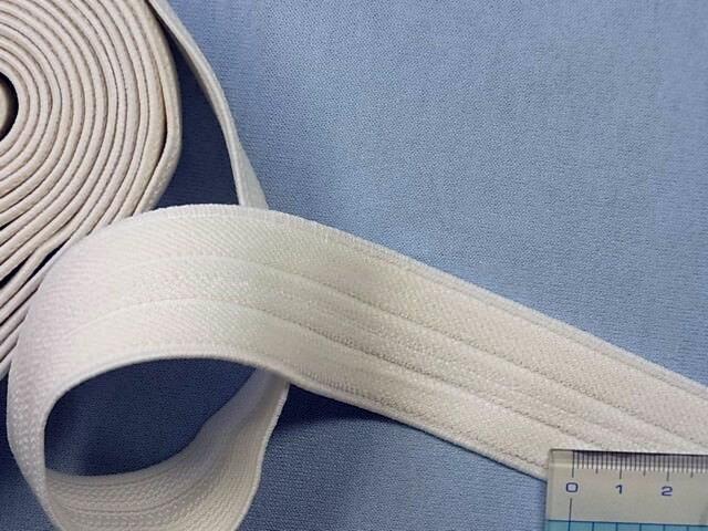 在庫処分・大幅値下げソフト織りゴム白 (3.0cm幅)