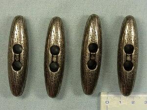 ダッフルボタン(樹脂)60mm 渋金