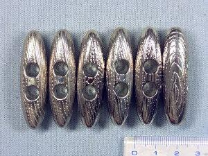 ダッフルボタン(樹脂)45mm 銀