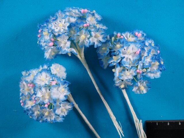 アートフラワー(造花)白×ブルー系