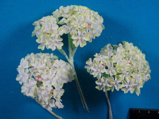 アートフラワー(造花)白×イエロー系