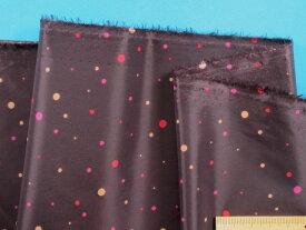 撥水加工生地黒×濃ピンク×ベージュ(150cm幅 1.5m)