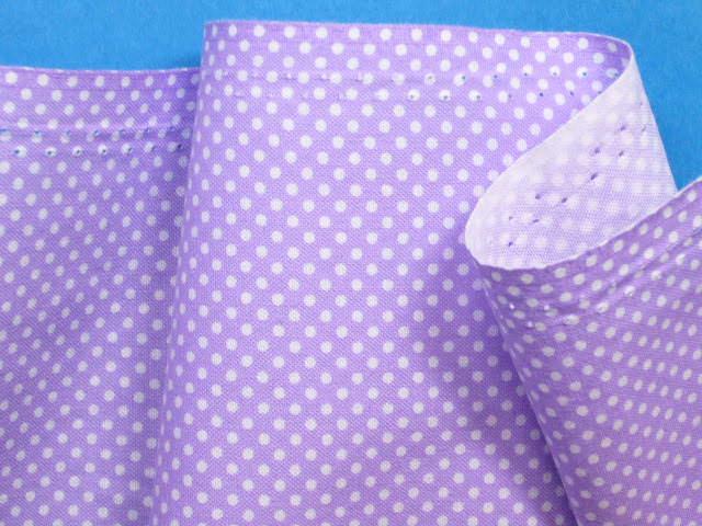 綿プリント生地水玉・薄紫