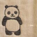 【パンダ】ふんわり六重織ガーゼ生地(中厚)約140x100cm