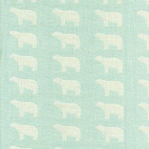 【メール便送料無料】【白クマ】2重織ガーゼ生地(ダブルガーゼ)約140cm幅×50cm