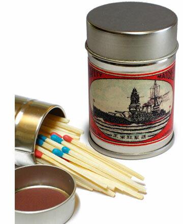レトロラベル缶マッチー船