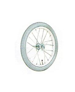 【18インチ】介助用車いす車輪【ソフトタイヤ付】1本【18×13/8】【アルミリム・スポーク】