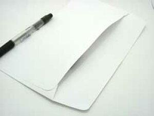 封筒 洋長3 白色封筒 ケント 80g カマス貼 1000枚