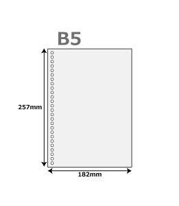 プリンタ 帳票用紙 500枚 ( ルーズリーフ 26穴 付) B5サイズ レーザープリンター インクジェットプリンター コピー機 マルチプリンタ用 上質コピー用紙 帳票用紙 バインダー b5 バインダー