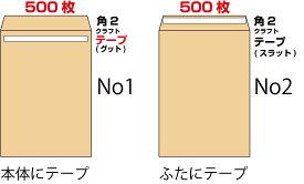 封筒 角2 テープ クラフト 500枚 85g グット ( 剥離紙 ) 又は テープ付 (スラット) 紙が厚いタイプ 口糊付き封筒 A4 〒枠なし 送料無料 (沖縄・一部を除く)
