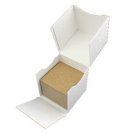名刺 mini(49x49) クラフト アース【名入れ印刷なし 紙の販売です】100 枚/箱【mini 小型サイズ】